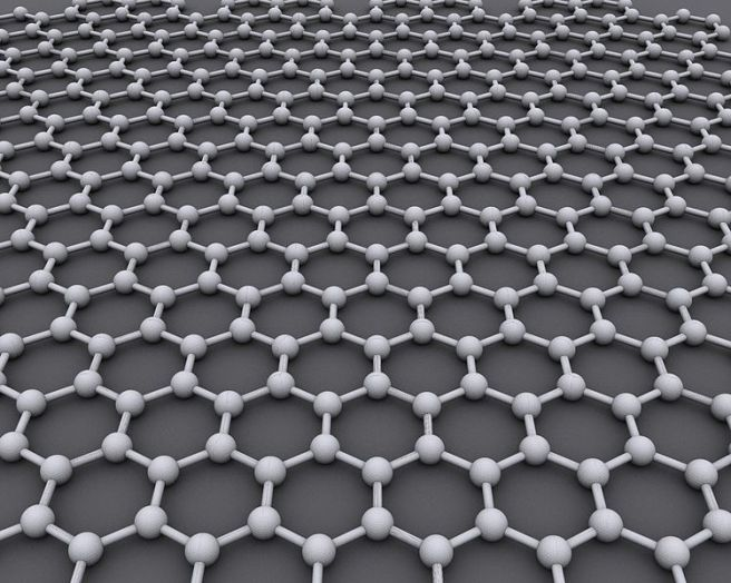 In graphene, carbon atoms link together to form an endless web of two-dimensional hexagons.