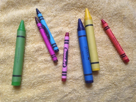 When it comes to crayons, bigger is not always better.  Oh, who am I kidding?  Everyone loves oversized crayons!