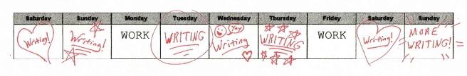 Nv02 Writing Week Schedule