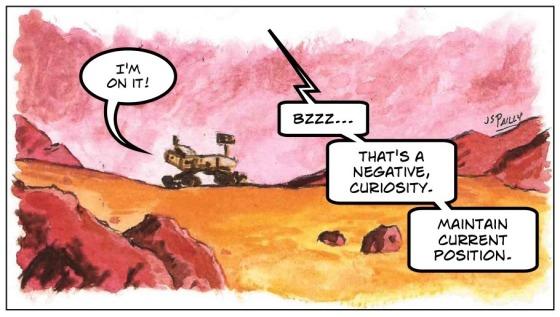 Ja06 Mars in Watercolor