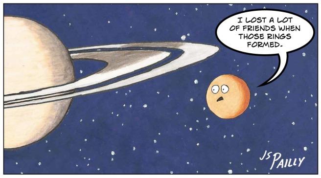 Ap09 Titan and Saturn's Rings