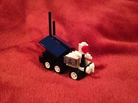 Rover begins exploring Martian landscape.